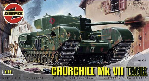 Airfix A01304 1:76 Scale Churchill Mk.VII Tank Military Vehicles Classic Kit Series 1