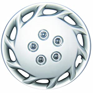"White Knight WK-877B, Toyota Corolla, 14"" Silver/Lacquer Plastic Wheel Cover, Set of 4"
