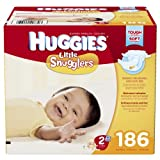 Huggies Little Snugglers Diapers, Size 2, 186 Count