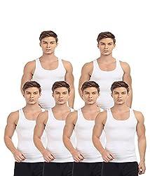 BLIVE Men's Premium Cotton Vest (6, Small)
