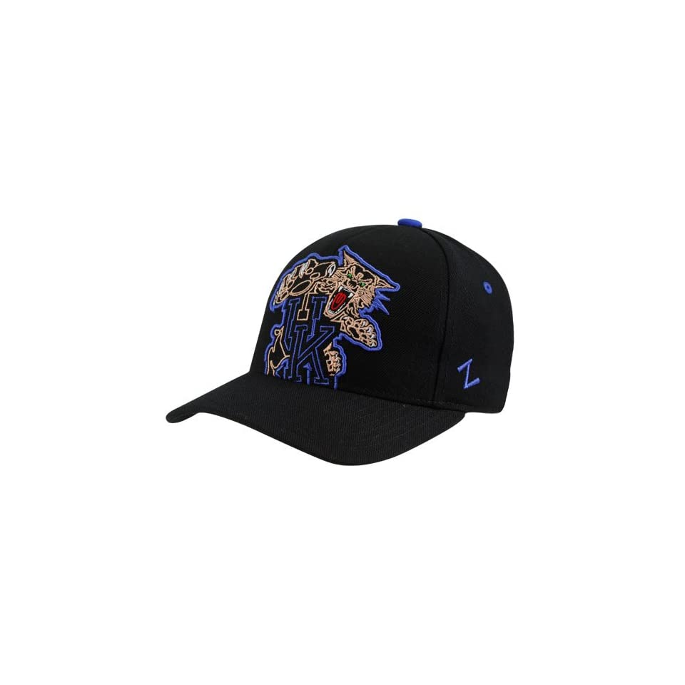 433e38c06d1 NCAA Zephyr Kentucky Wildcats Black X Ray Fitted Hat (7 1 8) on ...