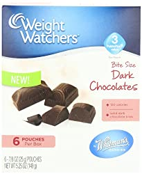 Whitman's Weight Watchers Bite Size Chocolates, Solid Dark, 5.25 Ounce