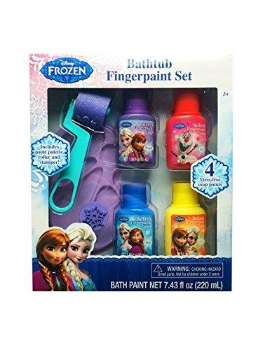 Disney-Frozen-Bathtub-Fingerpaint-Set-Mess-Free-Soap-Paints-Includes-Palette-Roller-and-Stamper