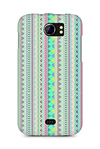 Amez designer printed 3d premium high quality back case cover for Micromax Canvas 2 A110 (aztec prints )