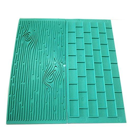 Mikiso 1202 Texture 2 Piece Mold Set Tree Bark And Brick