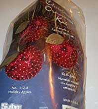 Christmas Ornament Kit  Holiday Apples  kit includes materials needed to complete 3 ornaments