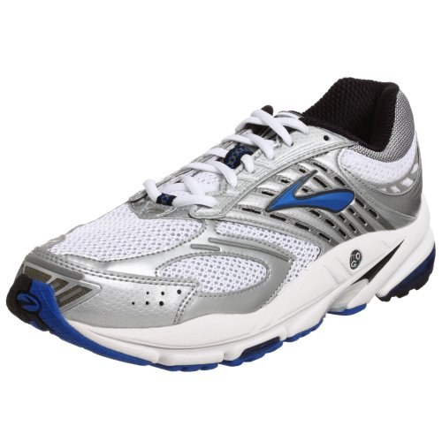 Brooks Men's Beast Running Shoe, Pearl/Silver/Crest/Black/White, 9.5 D