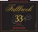 2010 Fallbrook 33° North Sangiovese 750 mL