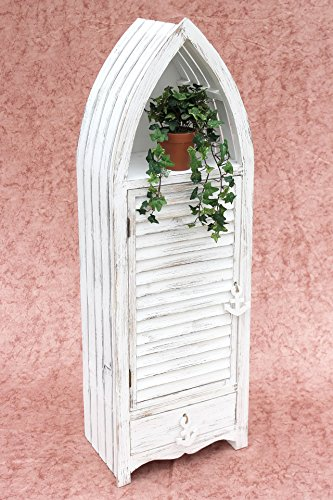 Boot-Schrank-1200012-XL-Regal-123cm-Badregal-Shabby-Badschrank-Wei-Badmbel