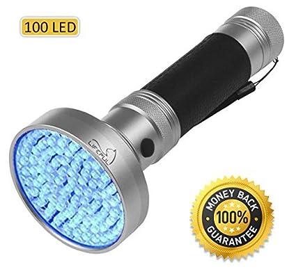 Lifepul-TM-Ultra-Bright-100-LED-UV-Blacklight-Pet-Urine-Detector-Finder-Ultraviolet-Handheld-Flashlight-for-Detecting-Cat-Dog-Pee-Body-Fluids-Bed-Bugs-Inspecting-Money-Passports-Freon-Leaks