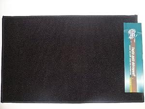 teppich f r eingangsbereich 104378 rutschfest 80 x 50 cm schwarz k che haushalt. Black Bedroom Furniture Sets. Home Design Ideas