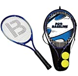 2 x JUNIOR ALUMINIUM TENNIS RACKETS WITH 2 TENNIS BALLS & CARRY CASE COVER EAN/MPN/UPC/ISBN: 5031470036454