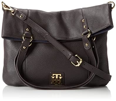 Tommy Hilfiger Back To Cool Pebble Tote,Chocolate,One Size