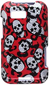 MYBAT MOTMB525HPCIMS681NP Compact and Durable Protective Cover for Motorola Defy MB525 - Leopard Skulls - 1 Pack - Retail Packaging - Sparkle