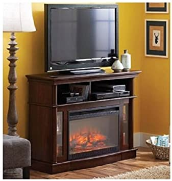 Phenomenal Electric Fireplace entertainment center flat panel TV stand provides warmth and ambiance. Couple that with media storage and you have an excellent fireplace and entertainment solution !