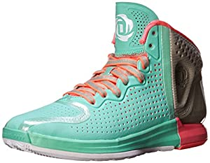 adidas Performance Men's D Rose 4 Basketball Shoe, Prism Mint/White/ECBEI, 12.5 M US