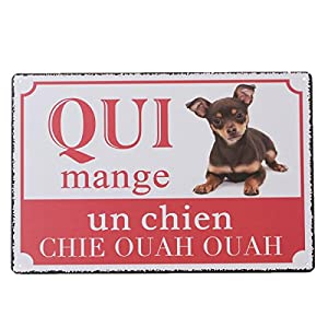 YESURPRISE Europen Vintage Style Metal Wall Sign Retro Art 20*30cm Chihuahua Dog by Yesurprise.co.ltd