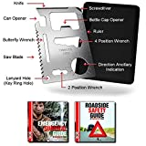 Credit Card Survival Tool - 11 in 1 Credit Card Tool is the Ultimate Survival Tool Making it an Integral Part of Your Survival Gear.
