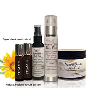 INSTANT Fast-Firming Face Lift SYSTEM(TM) - One ORGANIC Facial Cleanser - PREPARE your skin for the REJUVENATING process - TWO vials of STEM-late Serum - ACCELERATE Collagen and Elastin production - One Biozyme Peel - THE MOST-EFFECTIVE Skin Peel Ever DEVELOPED - REMOVES dead cells and prepares your skin for OPTIMUM results - One Natural Fusion Fast Firming Face Lift Cream - INSTANTLY TIGHTENS and FIRMS your skin - Continued use PRODUCES up to 1/8