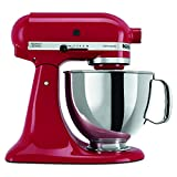 KitchenAid KSM150PSER Artisan 5-Quart Stand Mixer, Empire Redby KitchenAid