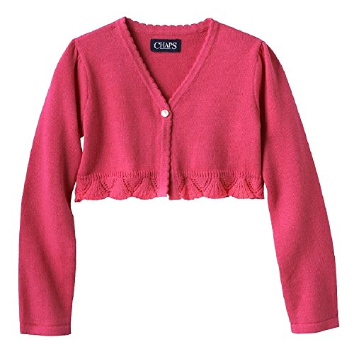 Chaps Big Girls Shrug Cardigan Sweater (Large (12-14) , Pink )