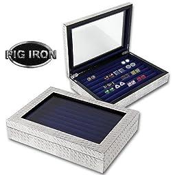 Pig Iron Diamond Plate Cufflink/Jewelry Box by Pig Iron