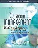 Classroom Management That Works: Research-Based Strategies for Every Teacher (013503583X) by Marzano, Robert J.
