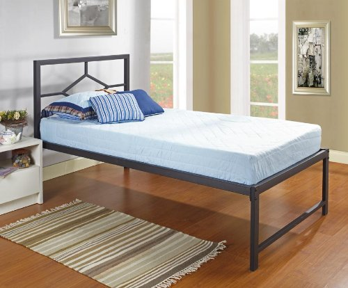 Black friday black metal twin size day bed daybed frame for Cheap metal twin bed frame