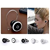Mo2mo@ mini Stereo Wireless Bluetooth Earbuds Headsets Headphones w/Microphone Exercise Handsfree Earphones Earpieces for iPhone 5s 5c 4s 4iPad 2 3 4 New iPad iPod Android Samsung Galaxy Smart Phones Bluetooth Devices (Silver)