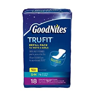 Huggies GoodNites Tru-Fit Real Underwear Disposable Absorbent Inserts Refill Pack for Boys and Girls, Small and Medium, 18 Count (Pack of 3)