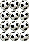 12 Football rice paper cup cake toppers 40mm decoration By Simply Topps
