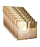 Premium Golden Saree Cover (With Flap) - Pack of 10