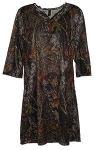 Mossy Oak Camo Night Shirt Ladies Plus Silky Camouflage Gown 2X (Mossy Oak Break Up,... by Wilderness Dreams