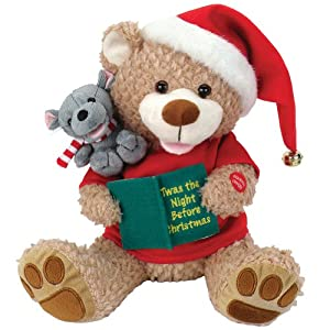 Amazon.com: Night Before Christmas Bear and Mouse Plush Animated ...