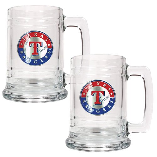 MLB Texas Rangers Two Piece 15-Ounce Glass Tankard Set- Primary Logo at Amazon.com