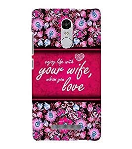 Enjoy Life With Love Cute Fashion 3D Hard Polycarbonate Designer Back Case Cover for Xiaomi Redmi Note 3 :: Xiaomi Redmi Note 3 Pro :: Xiaomi Redmi Note 3 MediaTek