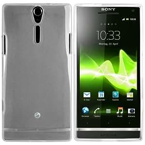 mumbi TPU silicone Coque Sony Xperia S - Housse skin Etui Case Protecteur étui Blanc Transparent