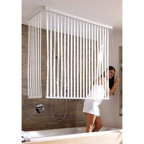Dusche Dachschr?ge Duschvorhang : Rollos f?r die Dusche, selbsttrocknende und platzsparend
