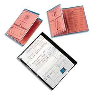 Elba Boîte de 10 étuis 6 faces pour carte grise 8,6x12,6 cm en PVC 30/100e
