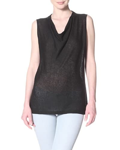 Cullen Women's Cullen Sleeveless Cowl Neck Sweater  - Black