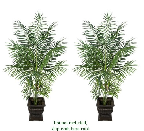 TWO 8' Artificial Tropical Areca Palm Trees