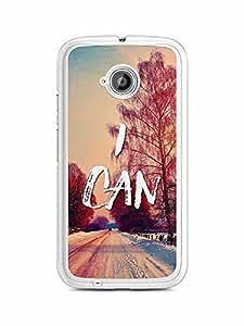 YuBingo I Can Designer Mobile Case Back Cover for Motorola E2