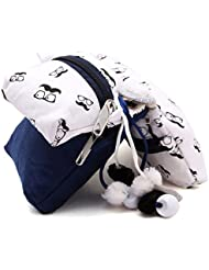 JaipurSe Multi Purpose Blue And White Silk And Cotton Combo Pouch Bags In Pack Of Three