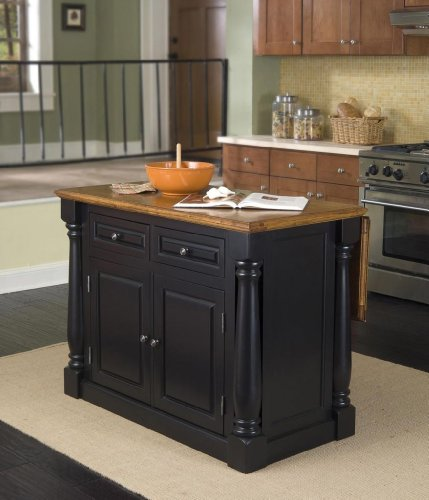 cheap home styles 5008 94 monarch kitchen island black