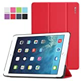 Poetic iPad Air Case Slimline Series - Lightweight Ultra-slim PU Leather Slim-Fit Trifold Cover Stand Folio Case for Apple iPad Air 1st Gen (5th Generation iPad) Red