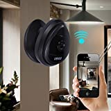 Portable Mini IP Camera, UOKOO 1280x720p Home Surveillance Camera Wireless IP Camera With Built In Microphone WiFi Security Camera, Motion Detection Black