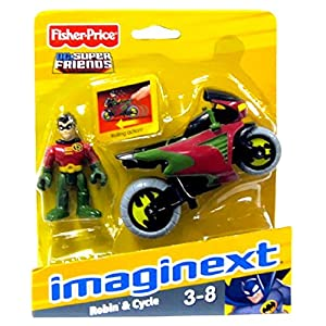 Imaginext DC Super Friends Robin & Cycle Figure Set