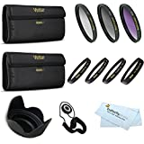 58mm Pro Macro Photography Kit Includes: +1 +2 +4 +10 Close-Up Macro Filter Set With Pouch+ 3pc. Filter Kit (UV, CPL, FLD) + Lens Hood + Cap Keeper + More For Canon EOS 5D Mark III, EOS-1D X, 6D, 7D, EOS 60D, EOS 70D, T5i, T4i, SL1, T3i, T3, EOS M DSLR