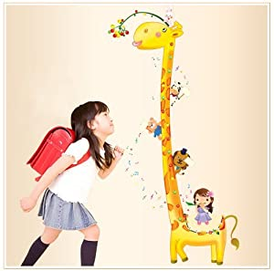 Bigmouth Tall Yellow Giraffe Animals Girls Wall Decal Mural for Nursery Room Wall Decor Sticker from Bigmouth
