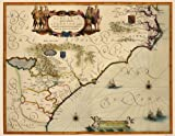 Old State Maps - SOUTHEAST UNITED STATES (US) BY W BLAEU 1640 - Glossy Satin Paper